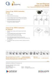 Petainer Keg npr Classic Use & Disposal Instructions