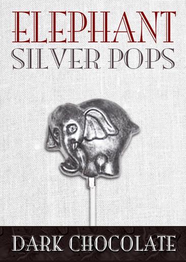 Dark Chocolate Elephant Pop Silver