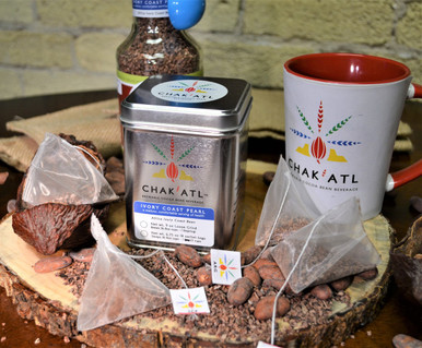 Ivory Coast Pearl Cocoa Bean Grind - 18 Sachets and each sachet makes 2 servings of 8 ounces  - Makes 36 servings of hot cocoa bean beverage