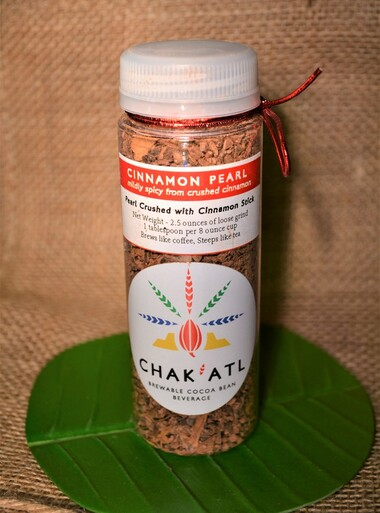 CHAK'ATL - Cinnamon Pearl - Cocoa Bean Grind - 2.5 oz - serves 10 Plastic bottle - sampler size