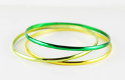 """Three Shades of Green"" Bangle Bracelet"