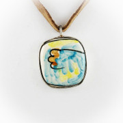 """On the Ocean Beach"" Hand Painted Necklace"