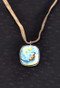 Hand-painted Ceramic Abstractionist Necklace