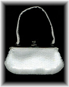White Sequined SASHA Mini-Purse