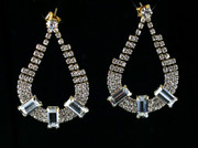 Aurora Rhinestone Earrings with Crystal Clear Accents