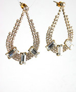 Rhinestone Earrings with Crystal Clear Accents