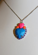 Neon Heart Pendant Necklace