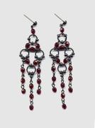 Bohemian Glass Lace Beaded Chandelier Earrings