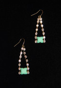 """Tiffany Blue"" Rhinestone Drop Earrings"