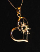 Heart with Star Necklace