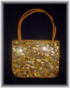 Golden Spark Sequined Chic Handbag