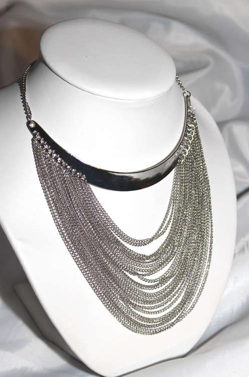 Cleopatra Multi-row Chain Necklace