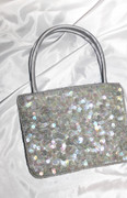 Shimmery Gray Sequined Chic Handbag
