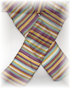 Multi-Color Stripe Scarf / Headband Wrap / Sash Belt