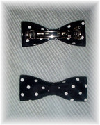 Black and White Polka Dot Hair Barrette
