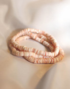 Pink Puka Shell Stretch Bracelet