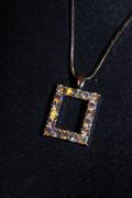 Rhinestone Rectangle Necklace