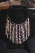 Two Tone Chain Fringe Necklace