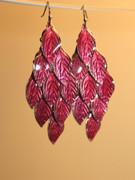 Fuchsia Failage Chandelier Earrings