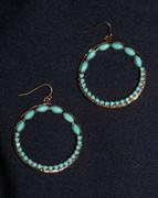 """""""Turquoise Gold"""" Hoop Earrings"""