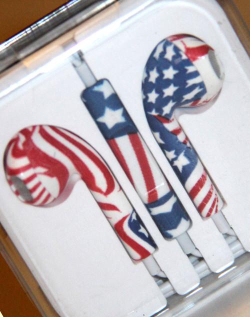 American Flag Headphones