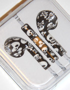 Black and white Scull Headphones