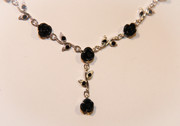 Carmen's Black Roses V Necklace