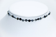 Black and Silver Sequins Choker Necklace