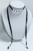 Courtesan Choker Necklace with Crystal Beads