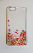 Flowing Sparkles and Red Hearts iPhone 6 6S Clear Cell Phone Case