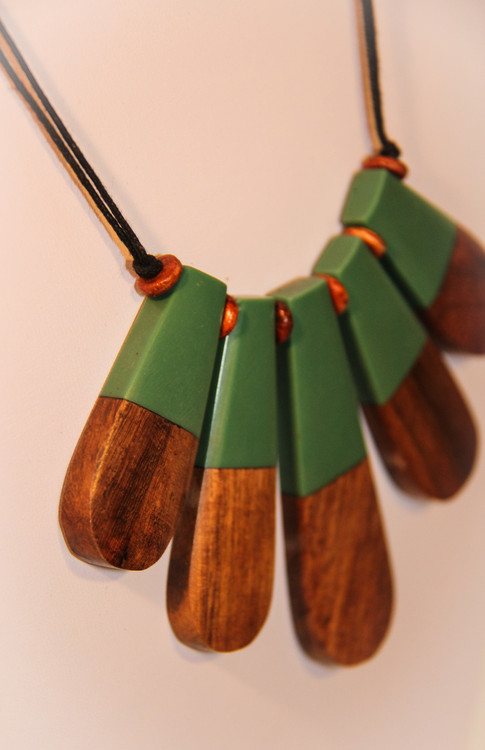 Wooden Palm Tree Necklace