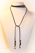 "Black Suede ""Tie Me Up"" Wrap Around Choker Necklace"