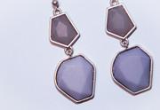 Lavender Mosaic Earrings