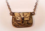 Snake Skin Handbag Pendant Necklace