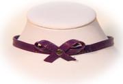Shiny Purple Bow Choker
