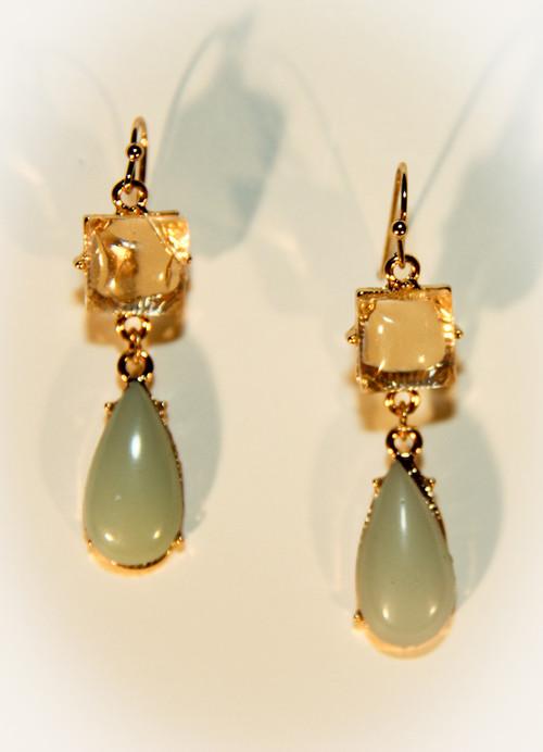 Mint Green Jade Drop Earrings