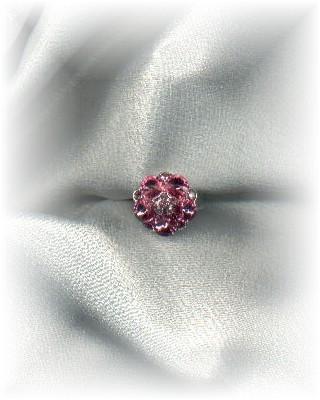 Pink Rhinestone Cocktail Ring