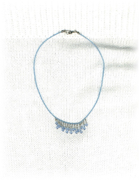 Baby Blue Rain Drops Necklace
