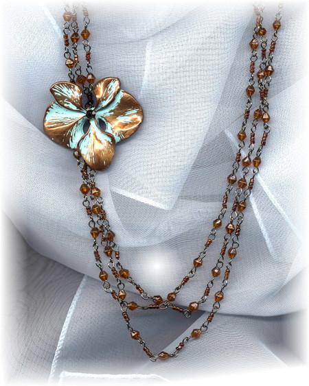 Antique Flower Necklace