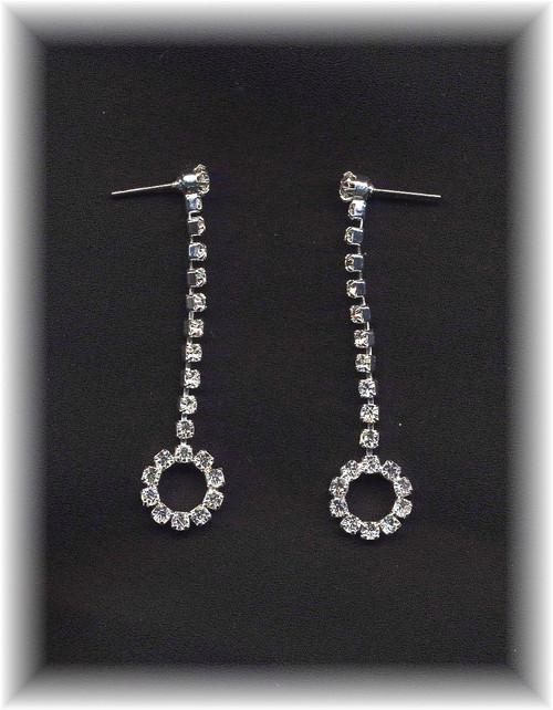 Rhinestone Circle Drop Earrings