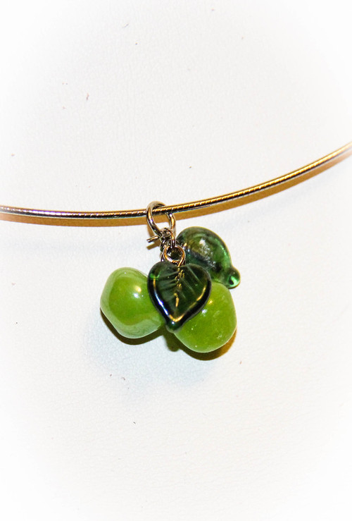 Green Apple Fruit Coil Necklace