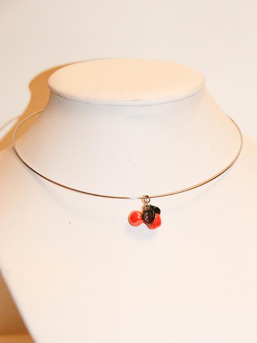 Juicy Orange Fruit Coil Necklace