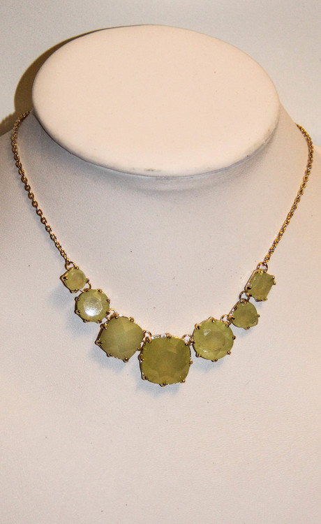 Lime Green Peridot Cinderella Necklace