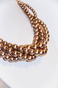 Matt Copper Gold Multi-Row Dress Up Necklace