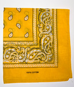 Yellow Cotton Bandana Scarf