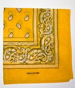 Yellow Cotton Bandana Scarf