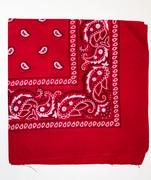 Red Cotton Bandana Scarf