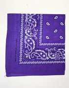 Purple Cotton Bandana Scarf
