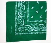 Green Cotton Bandana Scarf