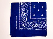 Blue Cotton Bandana Scarf